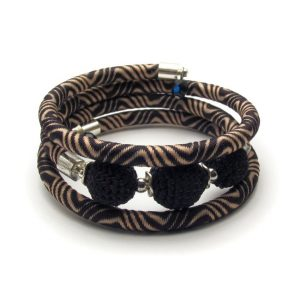 Pipe Bracelet Collection – Black & brown
