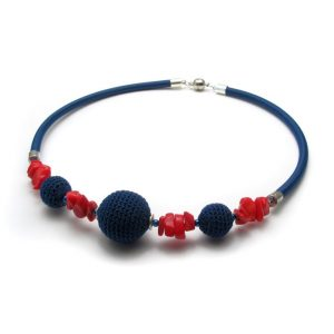 Pipe Necklace Collection – Blue & red