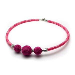 Pipe Necklace Collection – Pink