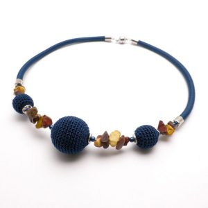 Pipe Necklace Collection – Blue & natural
