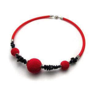 Pipe Necklace Collection – Red & black