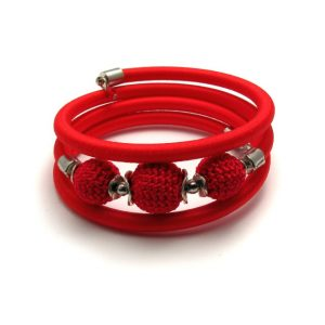 Pipe Bracelet Collection – Red