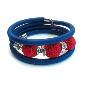Pipe Bracelet Collection – Navy blue&red