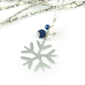 Hópihés nyaklánc – kék, fehér