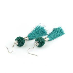 Rojtos fülbevaló – smaragd zöld